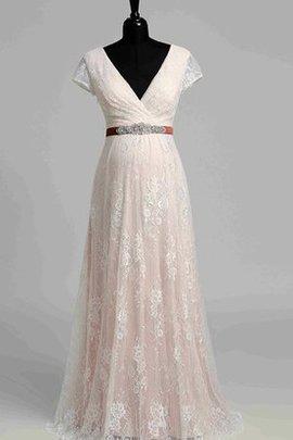 Robe de mariée facile intemporel romantique en dentelle avec perle