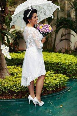 Robe de mariée romantique simple longue ligne a v encolure