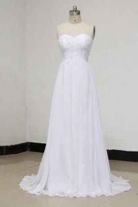 Robe de mariée naturel en dentelle col en forme de cœur a plage avec lacets