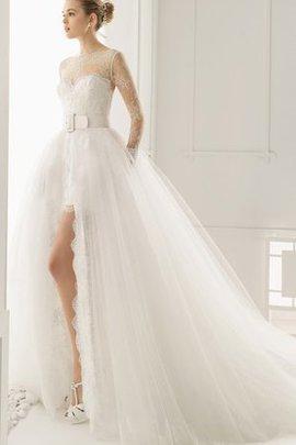 Robe de mariée attirent en salle brodé v encolure jusqu'au sol