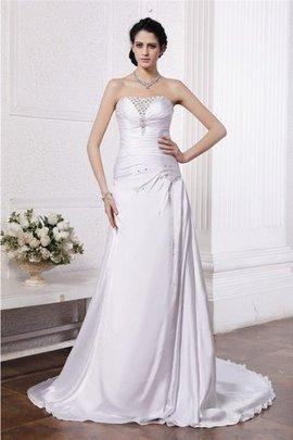 Robe de mariée de bustier de princesse manche nulle ligne a de lotus