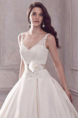 Robe de mariée intemporel majestueux sexy avec sans manches de traîne courte