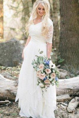 Robe de mariée classique mode sobre avec chiffon a plage