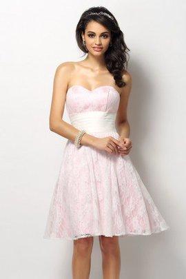 Robe demoiselle d'honneur courte manche nulle avec zip de princesse en satin