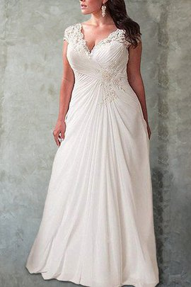 Robe de mariée pétillant avec chiffon avec manche longue ceinture haut naturel