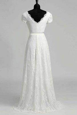 Robe de mariée vintage romantique a-ligne en plage fermeutre eclair