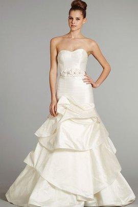 Robe de mariée pendant de traîne moyenne ligne a ceinture avec perle