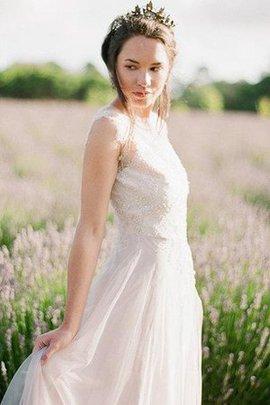 Robe de mariée intemporel v encolure de traîne courte ligne a au niveau de cou