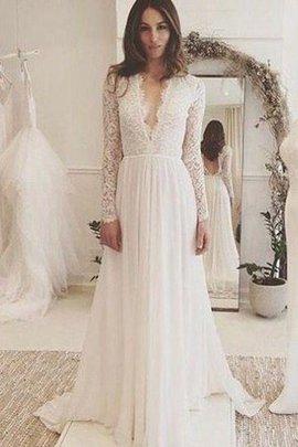 Robe de mariée sexy longue avec chiffon de traîne courte avec sans manches