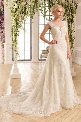Robe de mariée plissé luxueux avec manche épeules enveloppants col en bateau ligne a