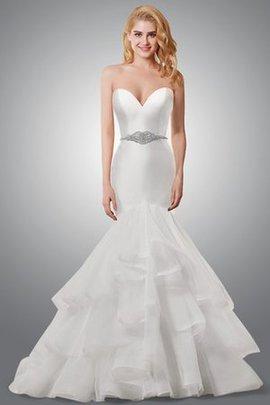 Robe de mariée distinguee branle bouillon du bord de robe de sirène sans ceinture