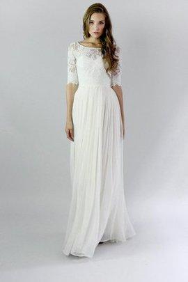 Robe de mariée à la mode gaine a plage en chiffon boutonné
