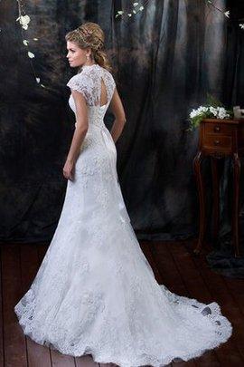 Robe de mariée longue elégant sexy avec manche épeules enveloppants avec manche courte
