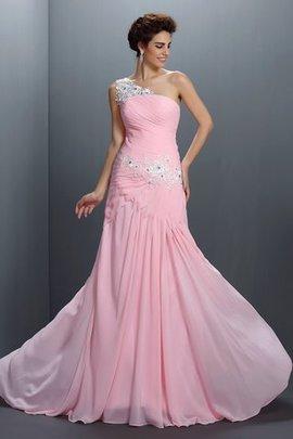 Robe de bal fermeutre eclair a-ligne avec sans manches decoration en fleur de princesse
