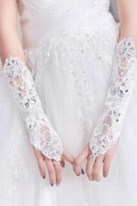 Sequin lace blanc chic | gants de mariée modernes captivant - photo 2