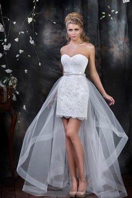 Robe de mariée décontracté naturel avec lacets col en forme de cœur avec sans manches