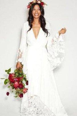 Robe de mariée plissage longue impressioé manche nulle fermeutre eclair