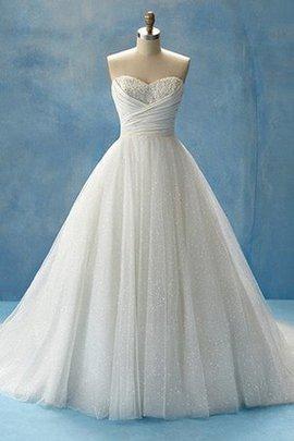 Robe de mariée longue moderne salle interne col en forme de cœur manche nulle