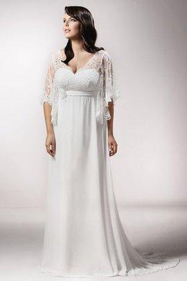 Robe de mariée de fourreau avec fleurs lache longueur au ras du sol ligne a
