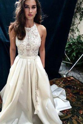 Robe de mariée sucré de traîne mi-longue dénudé avec zip naturel