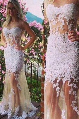 Robe de bal naturel decoration en fleur jusqu'au sol col u profond textile en tulle