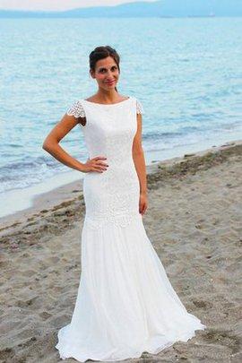 Robe de mariée sexy de col bateau au bord de la mer de sirène longueur au ras du sol