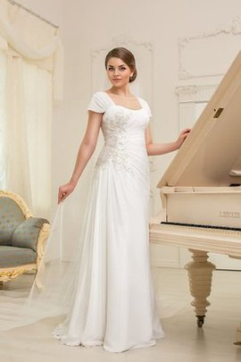 Robe de mariée plissage facile encolure en carré lache ruché