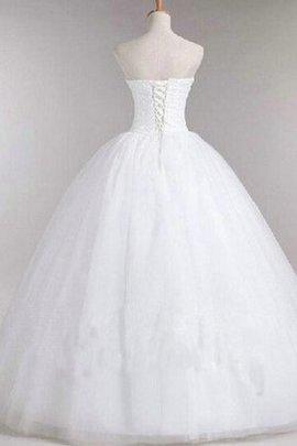 Robe de mariée naturel sans dos de mode de bal en dentelle manche nulle