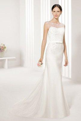 Robe de mariée delicat intemporel longue manche nulle de traîne courte