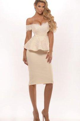 Robe de soirée sexy simple 2 pice avec manche épeules enveloppants avec manche courte
