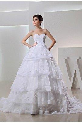 Robe de mariée longue de tour de ceinture empire de mode de bal avec lacets avec perle