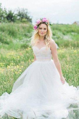 Robe de mariée naturel textile en tulle ceinture longueur au ras du sol ligne a