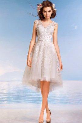 Robe de mariée informel facile ligne a en dentelle en tulle