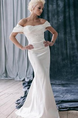 Robe de mariée distinguee chic de sirène sans dos epaule nue