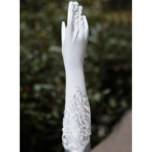 Gants taffetas blanc intemporel de mariée enchanteur - photo 1