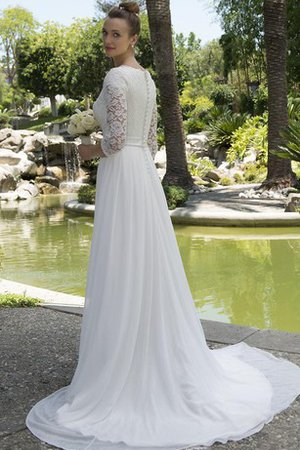 Robe de mariée simple nature distinguee avec sans manches en chiffon - photo 2
