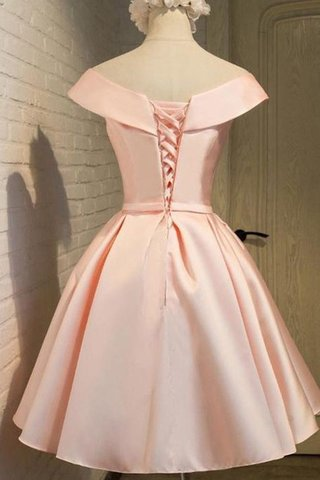 Robe de bal naturel avec ruban a-ligne de princesse en satin - photo 2