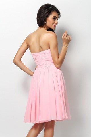Conception de mariage inspirée des années 90 pour la présentation de la mode nuptiale 9ce2-cagp6-robe-demoiselle-d-honneur-naturel-plissage-courte-avec-chiffon-avec-sans-manches