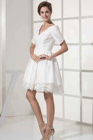 Robe douce seize bref v encolure croisade decoration en fleur - photo 2