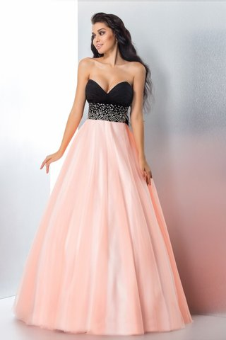 Robe de quinceanera longue naturel fermeutre eclair longueur au ras du sol en satin - photo 3