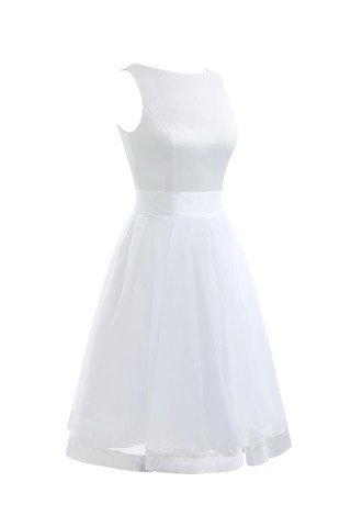 Robe de mariée simple solennel a-ligne de longueur à genou en arc-en-ciel - photo 4