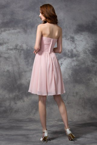 Robe demoiselle d'honneur naturel de princesse ruché avec zip avec chiffon - photo 30