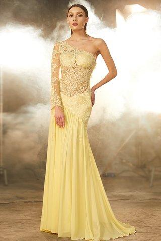 La robe Pivoine peut être personnalisée de manière infinie goodrobe.fr 9ce2-ushv5-robe-de-soiree-naturel-maillot-en-chiffon-avec-decoration-dentelle-de-traine-courte