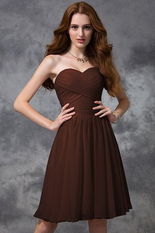 Robe demoiselle d'honneur naturel de princesse ruché avec zip avec chiffon - photo 9