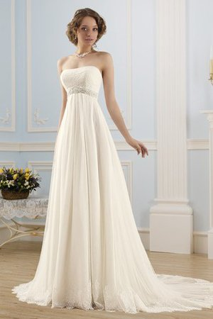 Robe de mariée simple informel de bustier cordon a plage - photo 1