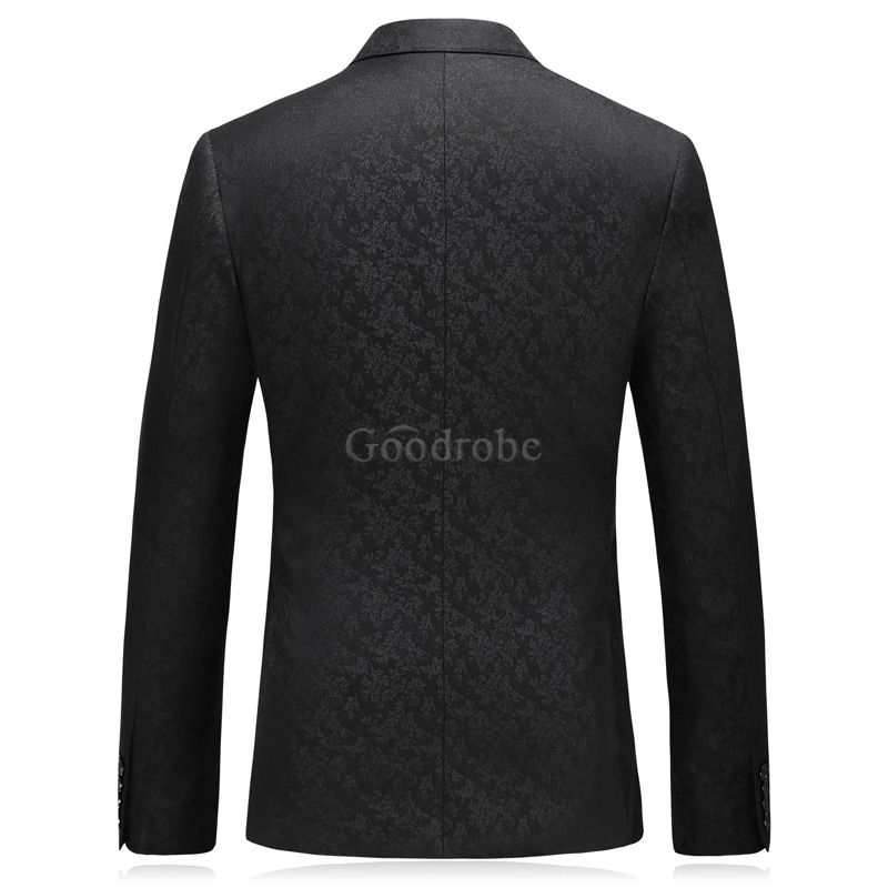 Décontracté groomsman hommes costume double boutonnage costumes smart - photo 3