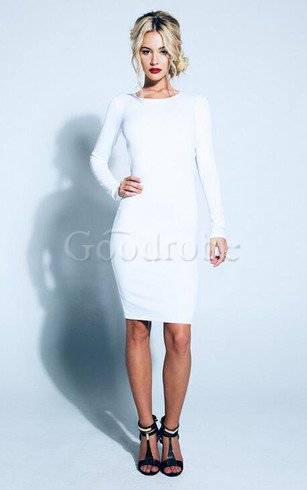 Robe de cocktail simple courte distinguee col en bateau noeud
