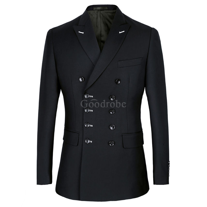 Taille européenne costume mariage homme smoking costume noir formel - photo 2