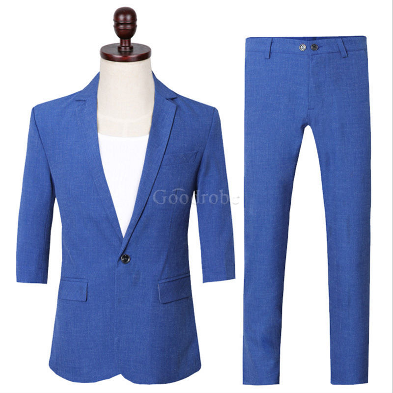Costumes bleu safari hommes nouveau design blazer - photo 1