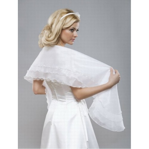 Organza blanc élégant | modeste volants bolero noble - photo 2